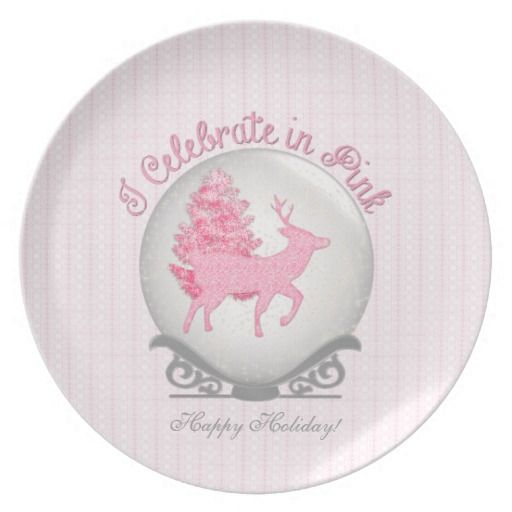 I Celebrate in Pink! Dinner Plate #pink #quotes #zazzle #Christmas #plate http://www.zazzle.com/serenitygardens?rf=238170457442240176