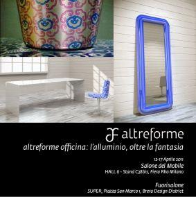 """altreforme officina: #aluminium beyond fantasy"" Installation by #altreforme at Salone del Mobile 2011 #interior #home #decor #homedecor #furniture"