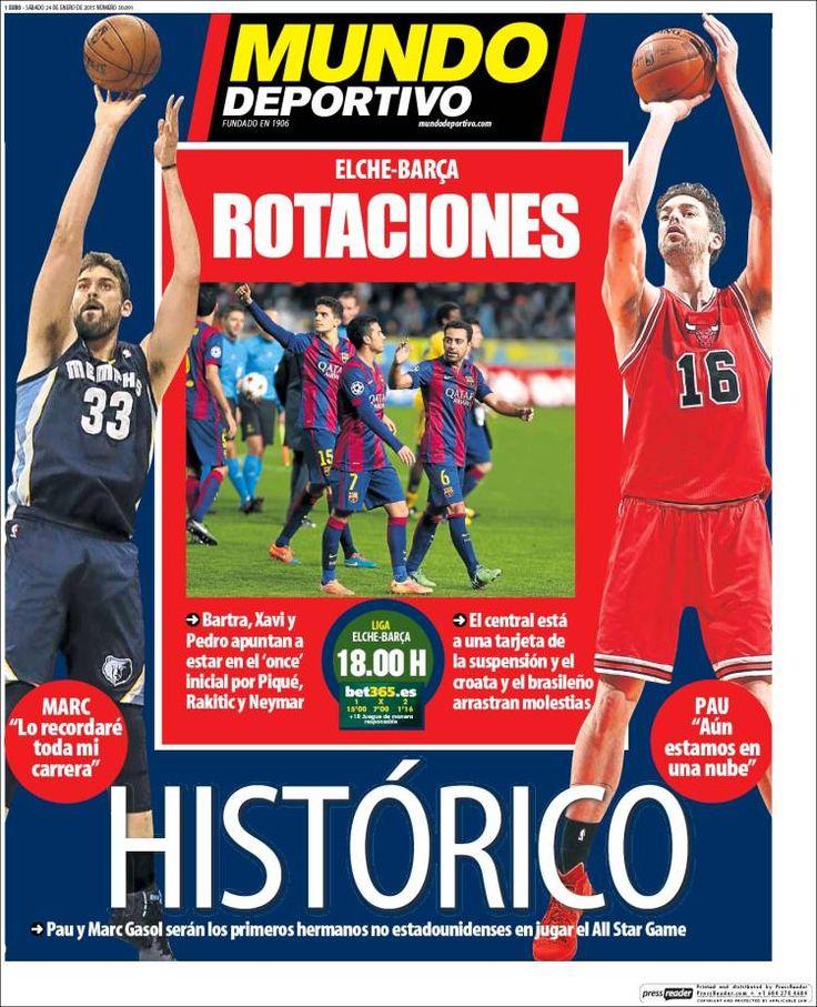 Portada Mundo Deportivo 24/1/2015