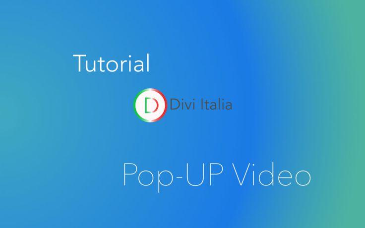 Pop-Up video su immagine,come crearlo in divi -Tutorial #divi #tutorial
