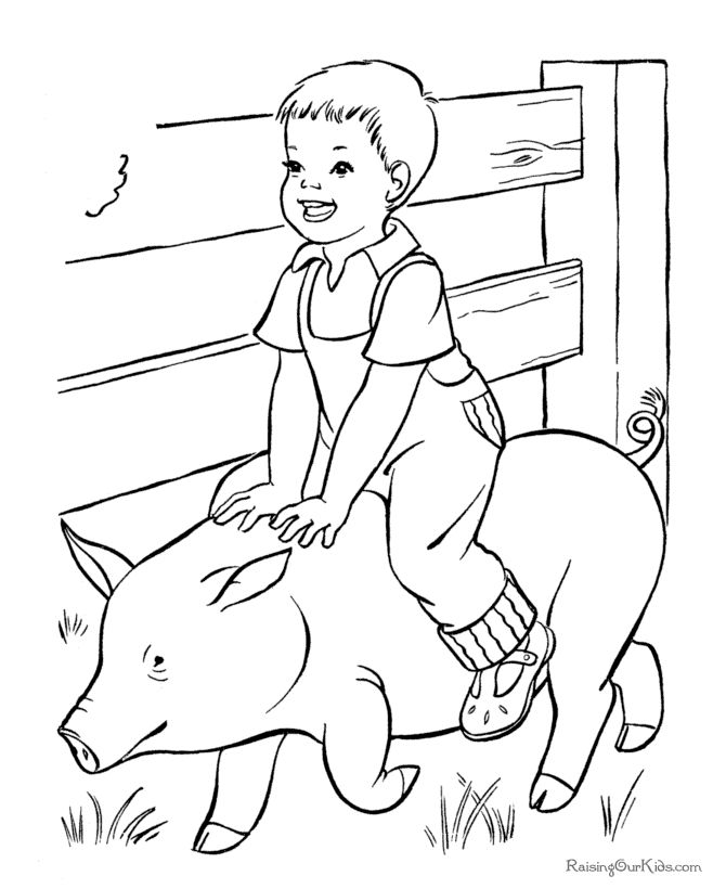 Free Printable Farm Coloring Pages   Farm coloring pages
