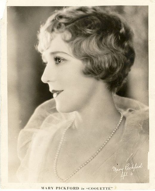 Mary Pickford 1930's.  Nice vintage short hair styles.