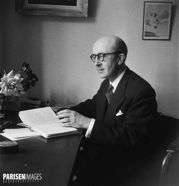 Jean Guitton (1901-1999), philosophe français, en 1954.