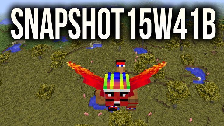 Snapshot REDBUL 15w41b - Voar no Minecraft sem Mods | Barcos e Asas Elytra