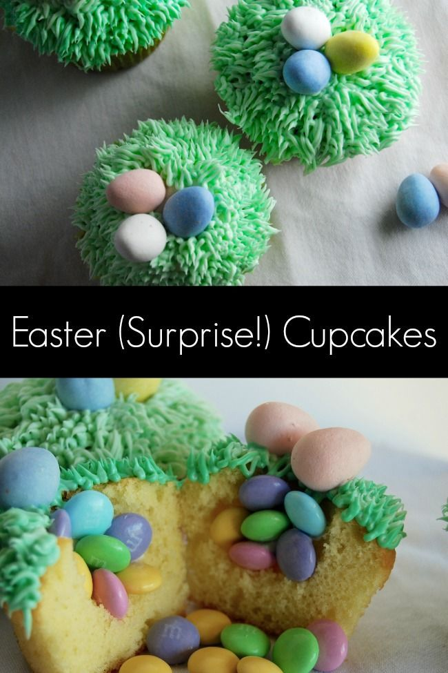 easter surprise cupcakes easter cupcakes easter desserts easter food ...