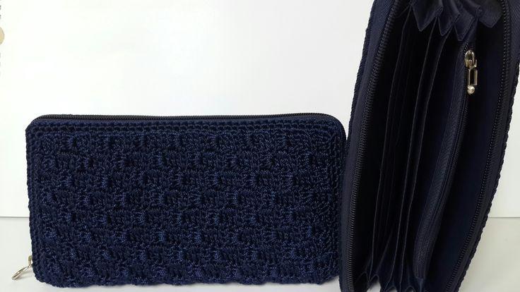 Pursue crochet navy #manka handmade