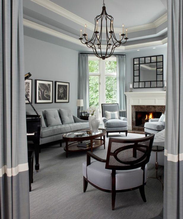 97 best images about szary salon grey living room on - Elegant contemporary living rooms ...