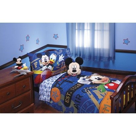 Disney® Mickey Mouse 4 Piece Bed Set - Blue (Toddler) : Target