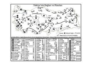 Türkiye'nin Dağları ve Platoları