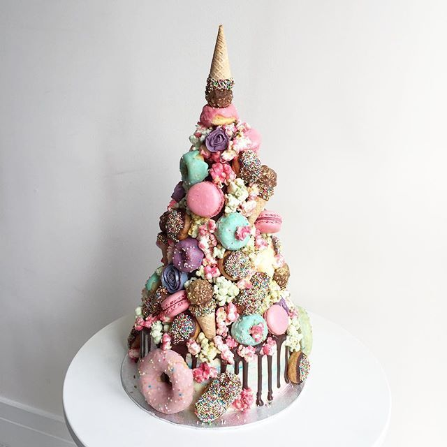 The Horn of the Unicorn croquembouche makes me cry every time - like did I really, metaphorically, give birth to that?!  cakey goodness from the top down with macarons, doughnuts, eclairs, profiteroles, candied popcorn, buttercream flowers, Ferrero Rocher ice cream cones and just a dash of OMGeez