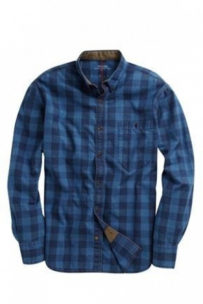 Caliper Indigo Check Shirt by FRENCH CONNECTION