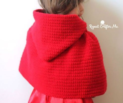 Come fare una mantellina modello cappuccetto rosso a uncinetto. Facile da fare per ogni taglia, i punti richiesti sono i punti base.