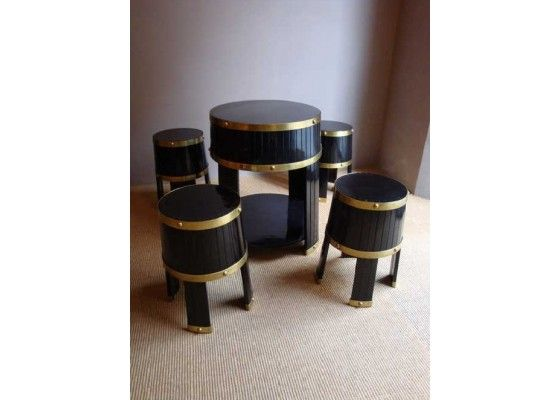 cellar barrel table and stools italy 1950s set of 5 for sale at