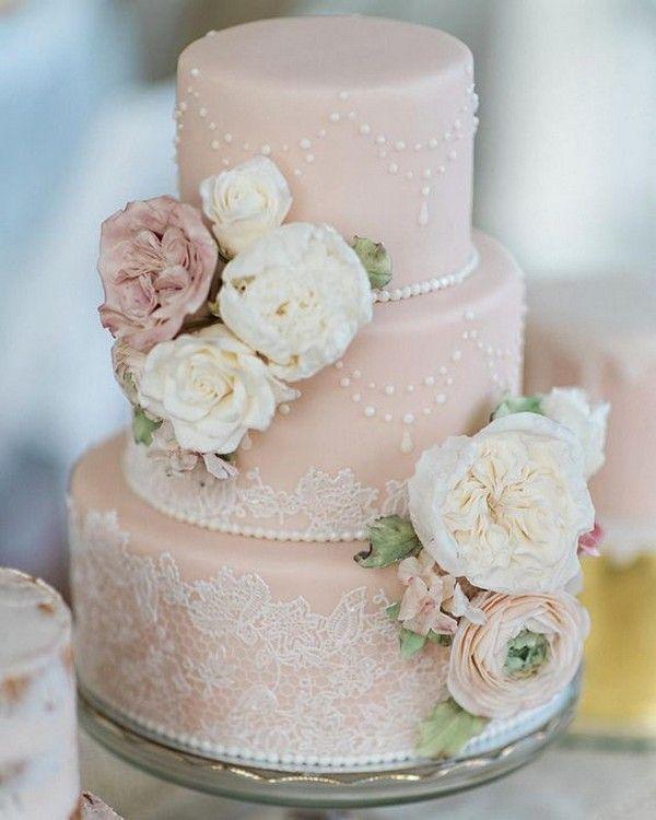 20 Gorgeous Vintage Wedding Cakes For 2021 Brides Oh Best Day Ever Blush Wedding Cakes Pink Wedding Cake Lace Wedding Cake