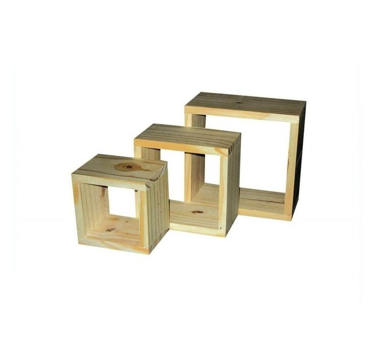 SET OF 3 NATURAL WOOD WOODEN FLOATING WALL CUBES SHELVES DISPLAY STORAGE  UNIT in Home. 14 best images about House   Shelf on Pinterest   Reclaimed wood