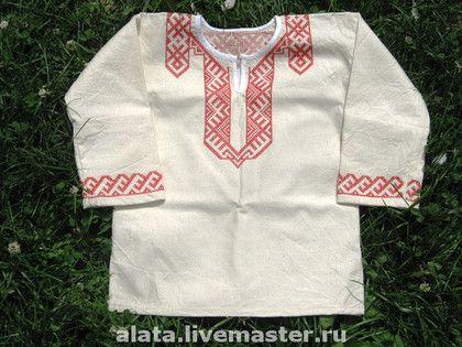 Вышивка на мужские славянские рубахи