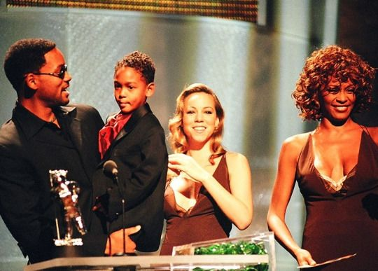 Will Smith, Trey Smith, Mariah Carey and Whitney Houston (MTV VMA - 1998)