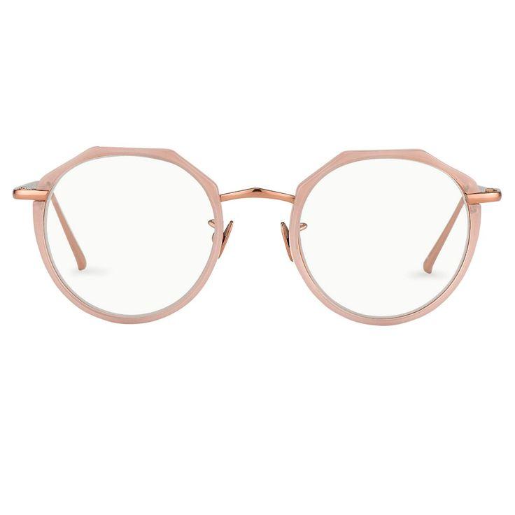 rose gold oval optical frame sunglasses Linda Farrow ypShn