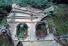 Fuselage found at United 93 crash site.