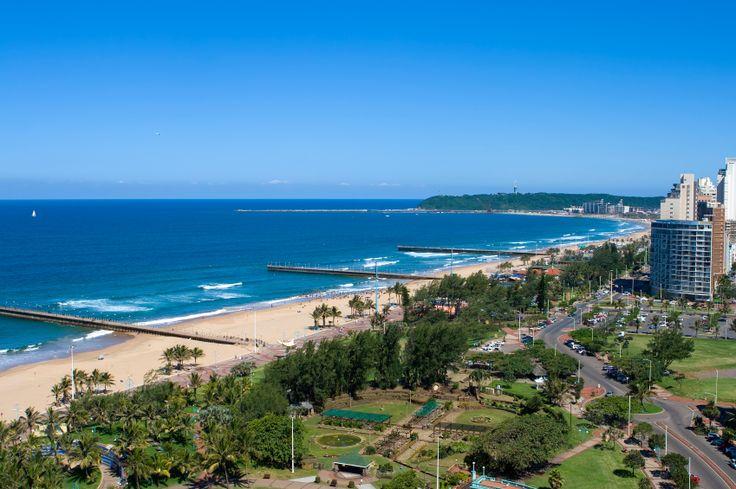 Beachfront scene - Durban - South Africa