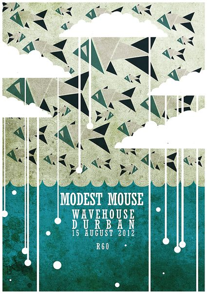 Modest Mouse gig poster by Crumies