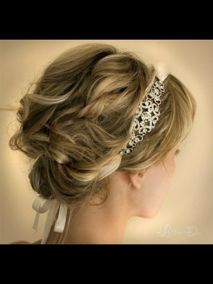 Beautiful updo with headband