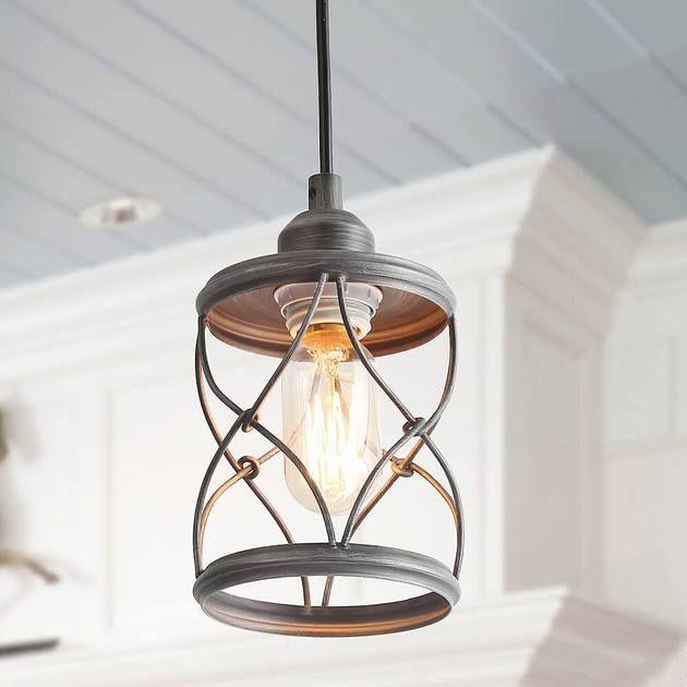 Mini Cage Pendant In 2020 Rustic Pendant Lighting Farmhouse Pendant Lighting Wire Pendant Light