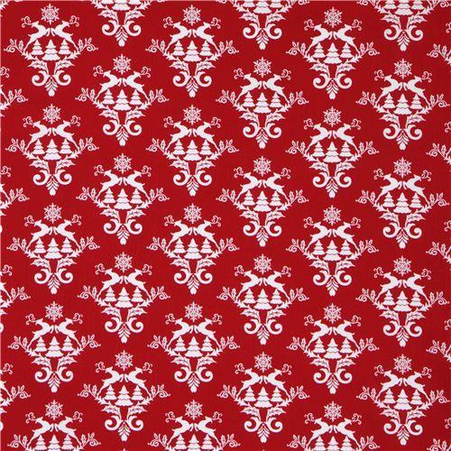 roter Rentier Norweger Schnee Weihnachts Stoff Winter Essentials III - Weihnachts-Stoffe - Stoffe - kawaii shop modeS4u