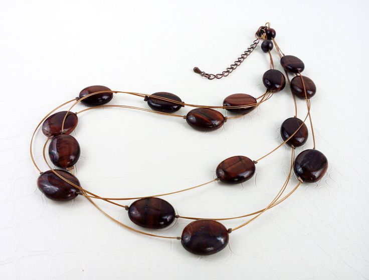 Tiger's eye multistrand necklace by MercysFancy on Etsy
