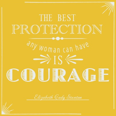 An inspiring quote from a pioneer of women's rights, Elizabeth Cady Stanton.