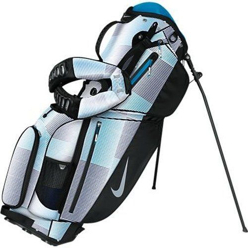 Featuring an integrated GPS loop these womens air sport carry golf stand bags by Nike also offer a pen sleeve, gloove pouch and ventilated air mesh back pad