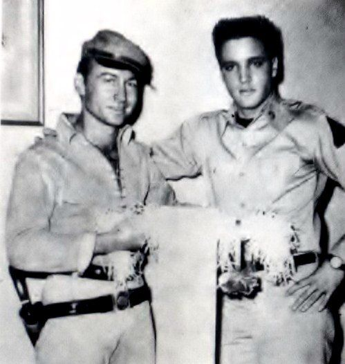 Elvis and his friend Nick Adams ( actor ) Nick was filming a movie at the time of Elvis was filming G-I blues in spring 1960. Nick Adams died in 1968 at 37 years old ( suicide ).
