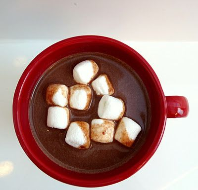 Creamy crock pot hot cocoa.  Pinning this one for next christmas!