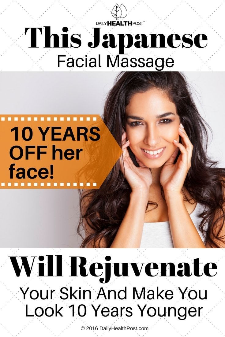 Her Facial massage to help lymph fun, must