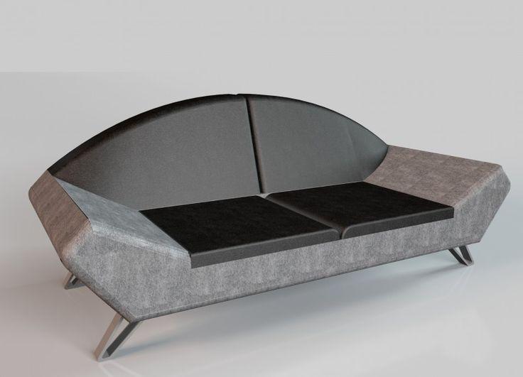 Space è un divano moderno e elegante. Presenta una linea diversa grazie ai due bracci larghi. Il fusto interno del divano è in legno di abete/multistrato. Cuscini e bracci sono in gomma di poliuretano. Il rivestimento può essere in pelle o tessuto. I piedi sono in acciaio lucido.