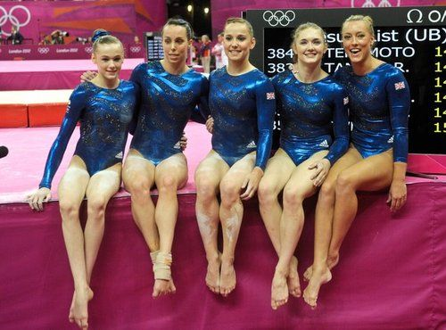 Rebecca Tunney, Beth Tweddle, Hannah Whelan, Jenny Pinches, Imogen Cairns