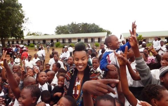 Toya Delazy on a mission to save the rhino, one human at a time