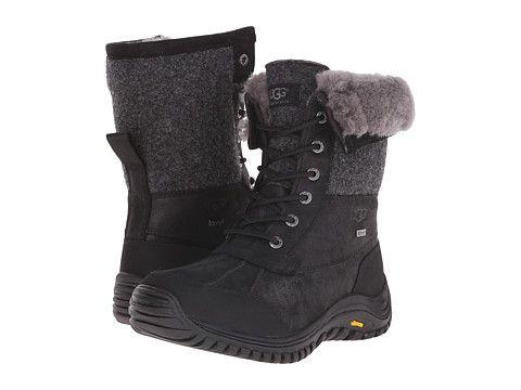 UGG Adirondack Boot II Black Leather - Zappos.com Free Shipping BOTH Ways