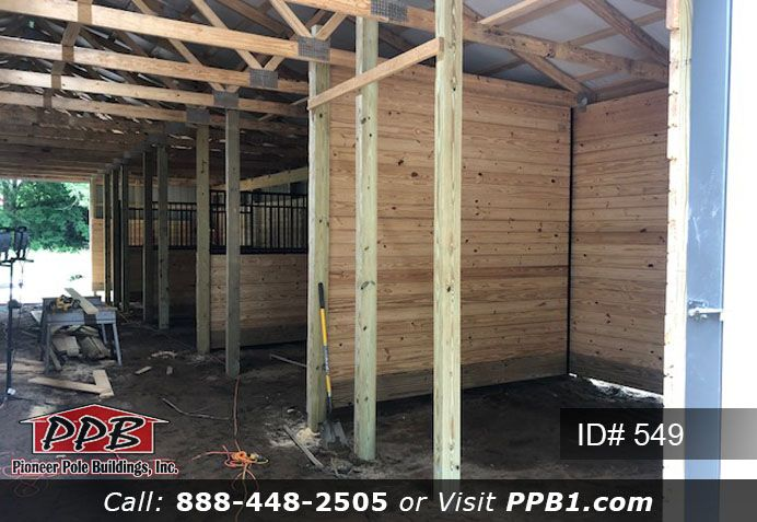 Building Tack Room For Horse Pole Buildings Pole Barn Designs Blue Roof