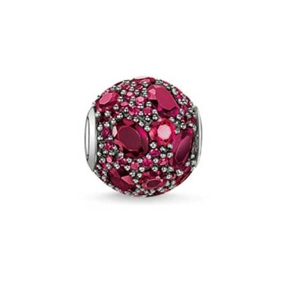 Thomas Sabo Silver Red Cubic Zirconia Red Fire Bead