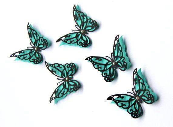 1000 id es sur le th me butterfly wall decor sur pinterest for Decoration murale papillon 3d noir