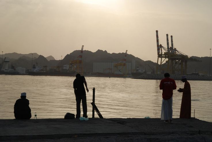 sunset over Muscat's harbour'09, Oman