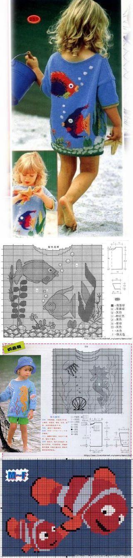 El pecho de la madre de las ideas - tejido, bordado, MK | VKontakte Knitting para niños con bordado.