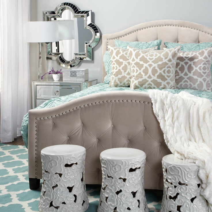 Love the bed frame and color scheme