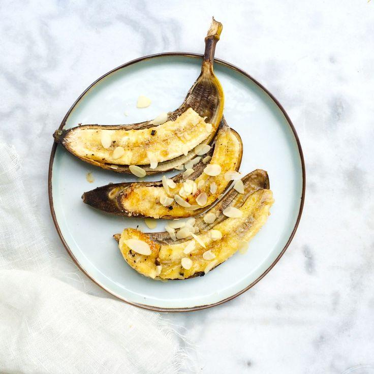 Banaan op de BBQ met honing & kokos made by ellen #recept