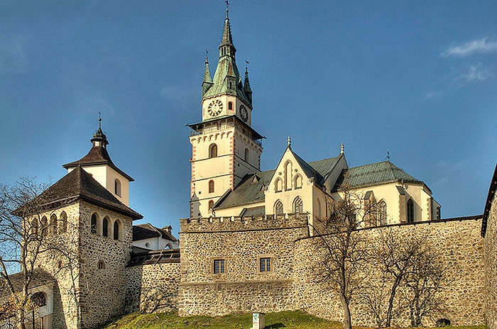 Kremnica Castle Slovacia  Built in the 13th through 15th centuries and towers over the town. In the first half of the 14th century, it became the residence of the Chamber Count. It represents a unique example of a very well-preserved fortification system in Central Europe.  Photo credit - Jan Dudas