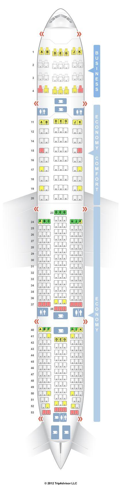 SeatGuru Seat Map Turkish Airlines Boeing 777-300ER (77W) V1