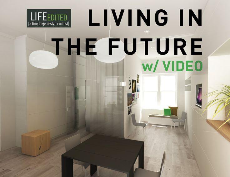 "Замечательная презентация дизайна для 39м2:  ""Living in the future"" by Theo Richardson http://life-edited.jovoto.com/ideas/10244"