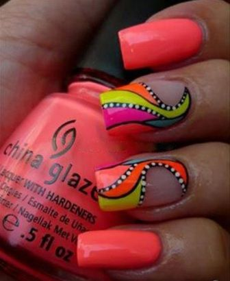 Neon nails www.finditforweddings.com Nail Art