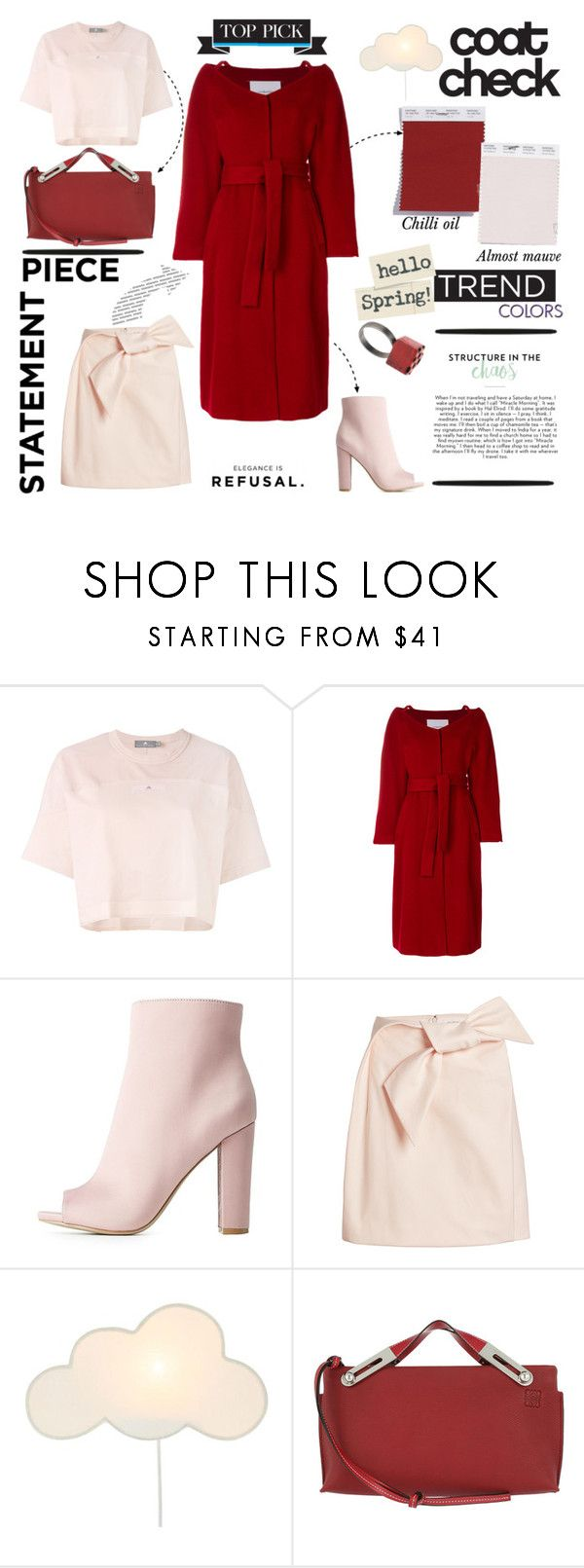 """""""Coat in 2018 Trend Color - Chilli Oil"""" by taci42 ❤ liked on Polyvore featuring adidas, pushBUTTON, Wild Diva, Delpozo, Loewe and Chanel"""